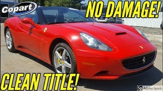 Copart: Cheapest clean title Ferrari from Salvage Auction samcrac Goonzquad tj hunt