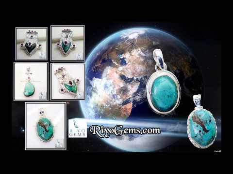 Turquoise Silver Pendant Wholesale 925 Sterling Silver Jewelry