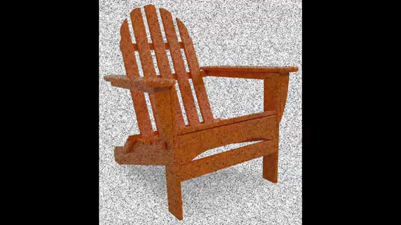 best polywood classic folding adirondack chair youtube