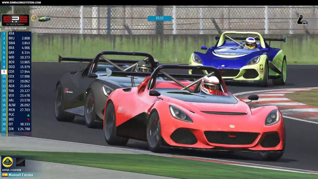 sim racing system live broadcast gamermuscle lotus 11 3. Black Bedroom Furniture Sets. Home Design Ideas