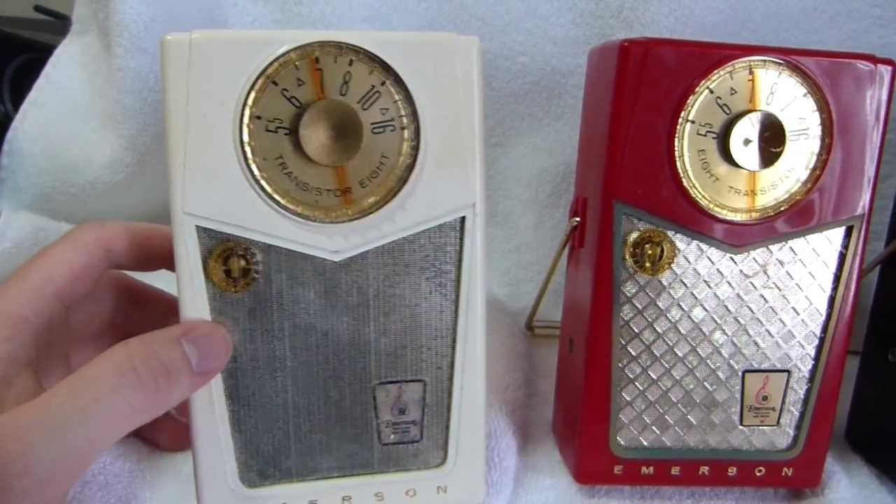1958 Emerson 888 Pioneer Transistor Radio  Made In The United States