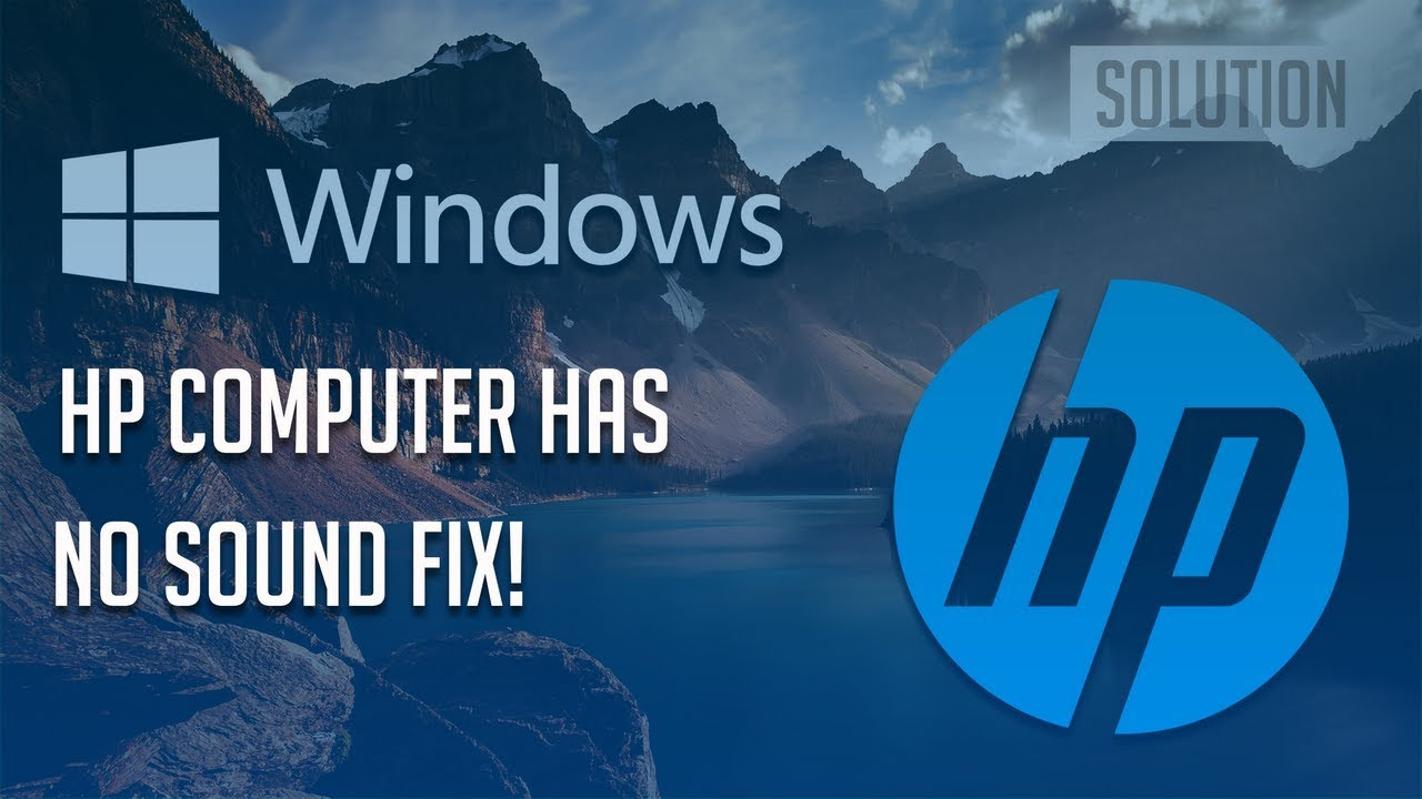 how to fix no sound on computer windows xp