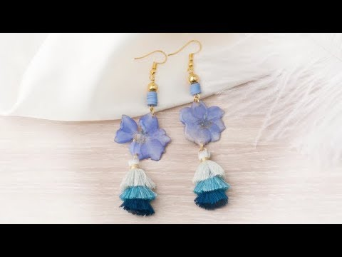 DoreenBeads Jewelry Making Tutorial - How to Make Resin Flower Tassel Earrings