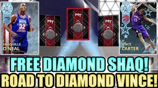 Free Diamond Shaq and Diamond Vince Carter Pack Opening in NBA 2K18 MyTeam