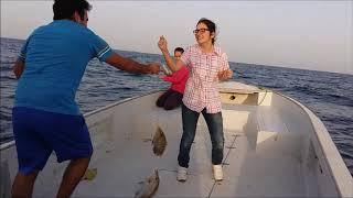 Qatar Fishing Trip in 2 Minutes - Catch, Clean, Cook... Bon Appetit