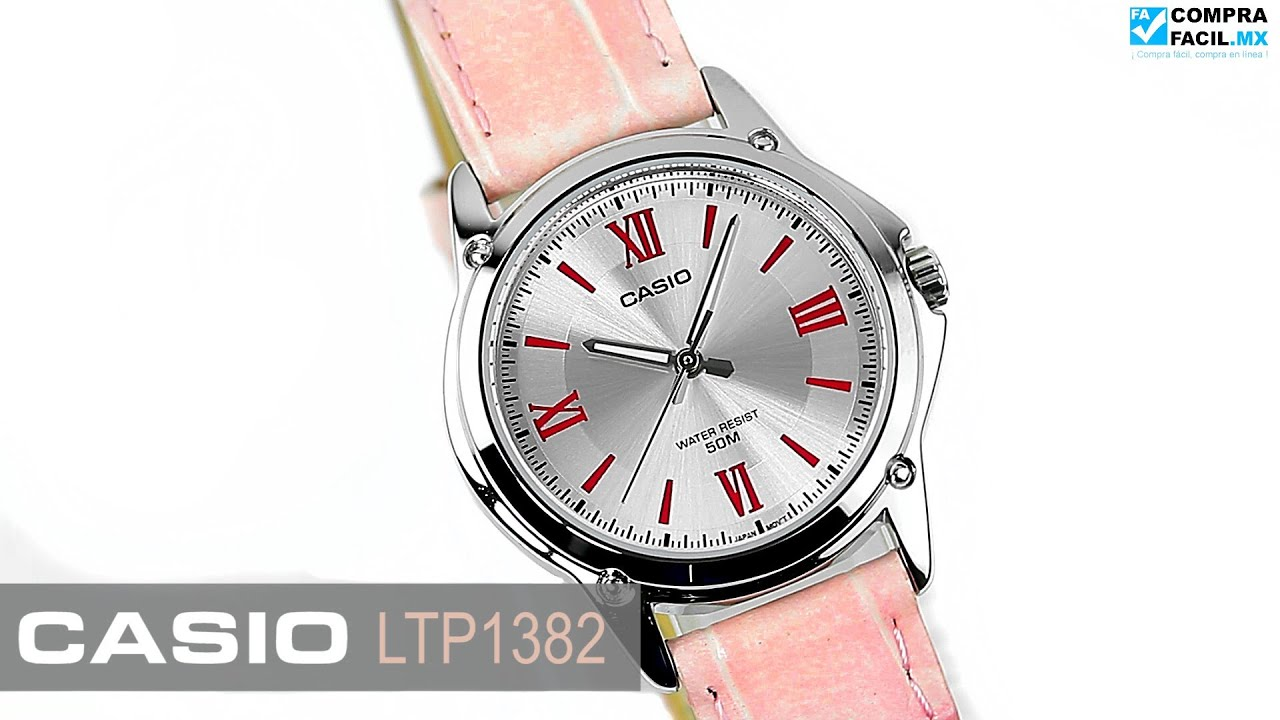 Ltp Casio 1382 Comprafacil Piel Rosa Reloj mx yIYbfv7g6