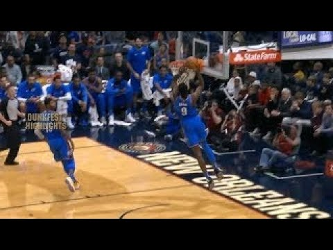 Thunder In- Game Dunk Contest Show From Paul George Bounce-Oop