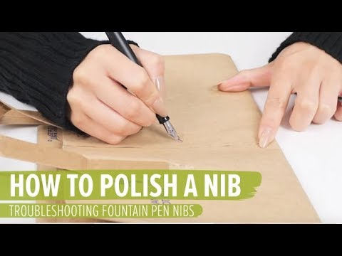 how to polish a nib using a paper bag troubleshooting fountain pen nibs youtube. Black Bedroom Furniture Sets. Home Design Ideas