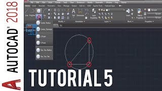 Autocad 2018 circle command tutorial - how to draw a circle in autocad 2018