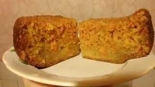 Простой морковный пирог. Simple carrot cake in the bread machine.