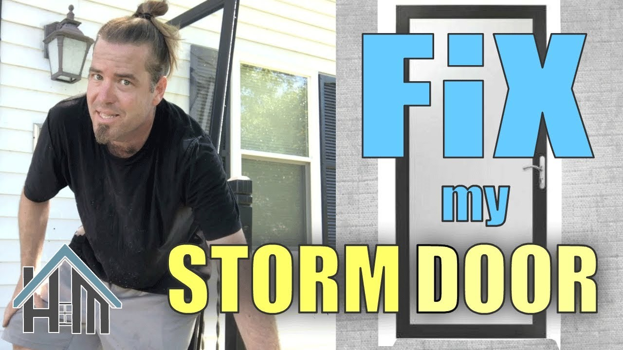 How To Fix A Storm Door Not Fitting, Replace Brick Mould. Easy!