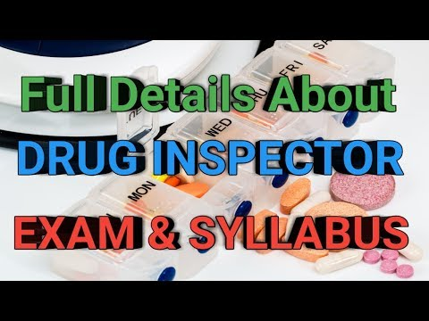 Untold Secrets Of Drug Inspector Exam Pattern and Syllabus 2018 || PHARMA GUIDE