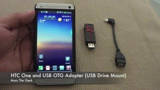 HTC One and USB OTG Adapter (USB Drive Mount)