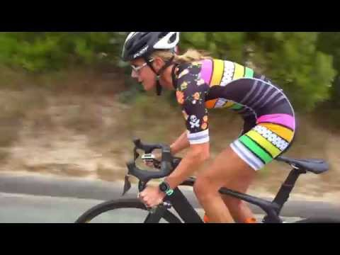 Betty Designs Cycling in Candy Skinsuit