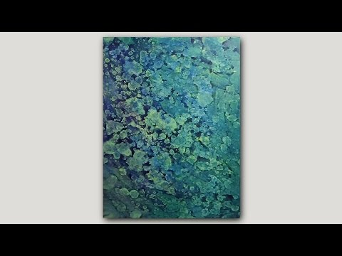 DIY Abstract Art Print | Acrylic Paint and Rubbing Alcohol Technique