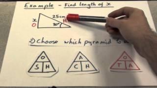 Trigonometry Finding Side lengths