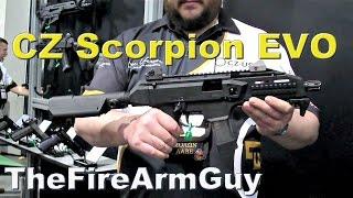 cz scorpion evo 9mm pistol shot show 2015 thefirearmguy