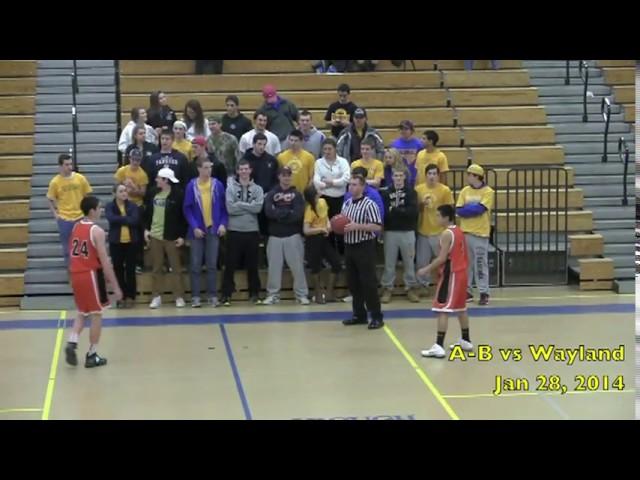 Acton Boxborough Varsity Boys Basketball vs Westford 1/28/14