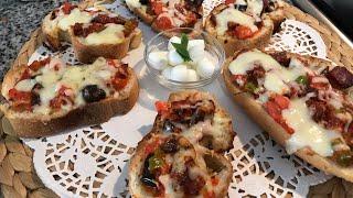 Ekmek Üstü Mini Pizza Tarifi Pratik Mini Pizza Nasıl Yapılır Kahvaltı Önerileriebrun