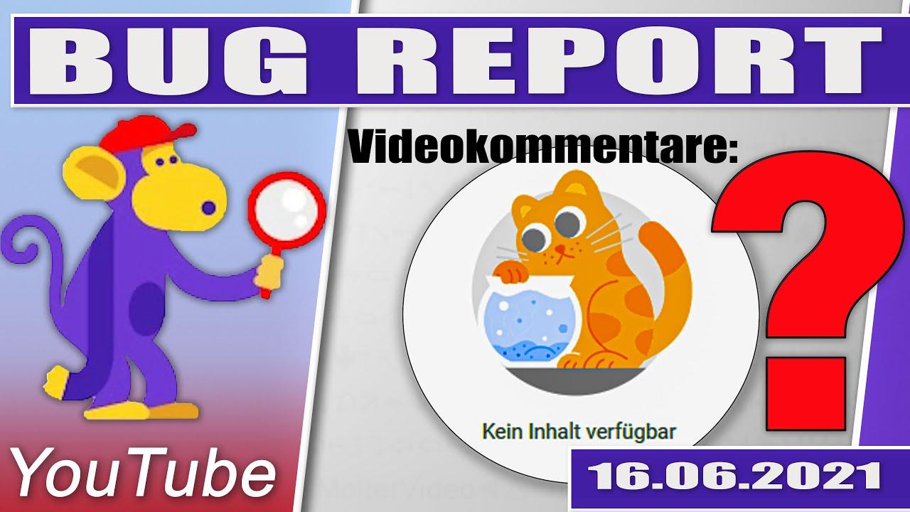YouTube Kommentare werden nicht angezeigt YouTube Studio (PC) 16.06.2021 #YouTubeBug