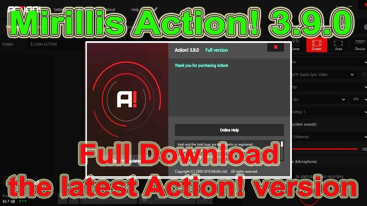 mirillis action full version 2018
