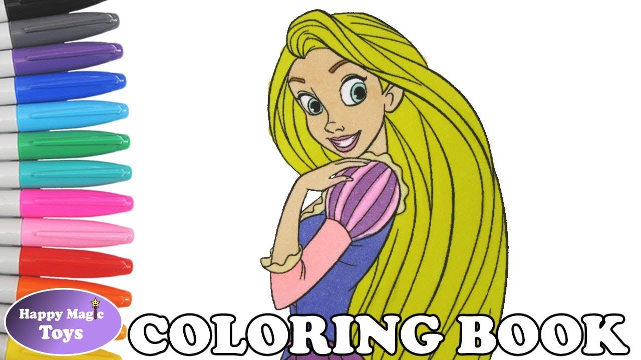 Disney Princess Rapunzel Coloring Book Pages Tangled Princess Rapunzel Coloring Page Kids Art Youtube
