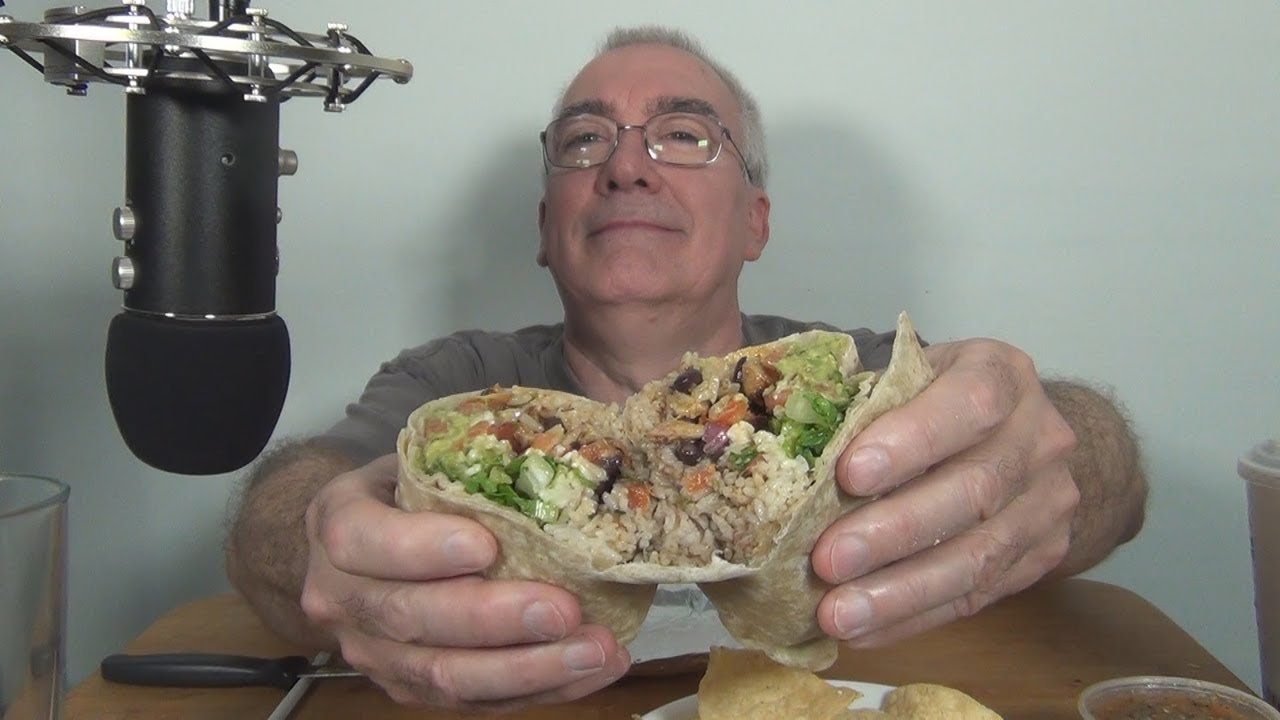 ASMR  Eating a Burrito from Chipotle First Time