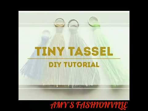 DIY- JEWELLERY TUTORIAL 11|| HOW TO MAKE TINY TASSELS