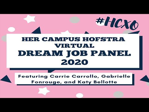 Her Campus Hofstra Dream Job Panel 2020