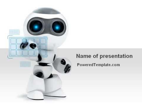 Robot model powerpoint template by poweredtemplate youtube robot model powerpoint template by poweredtemplate toneelgroepblik Images