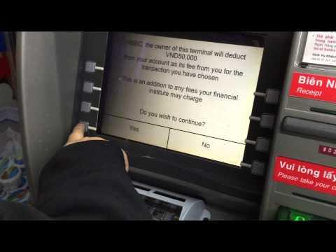 VIDEO RÚT TIỀN TỪ CÂY ATM HSBC - DT1010