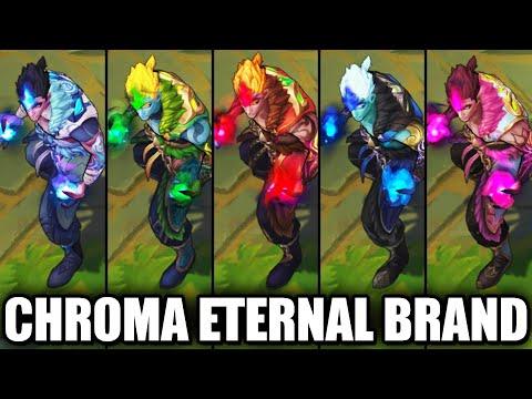 All Eternal Dragon Brand Chroma Skins Spotlight (League of Legends)