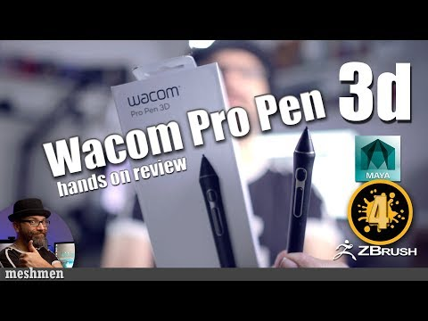 Wacom Pro Pen 3D hands on review and setup in Maya Mari and Zbrush