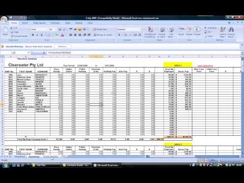 Smart Payroll Timesheet Setup
