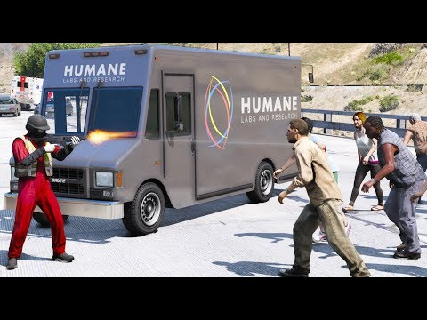 GTA 5 MODS | FRIGHT WEEK DAY 3 | Humane Labs Accidentally Lets Out A Virus | ZOMBIES APOCALYPSE