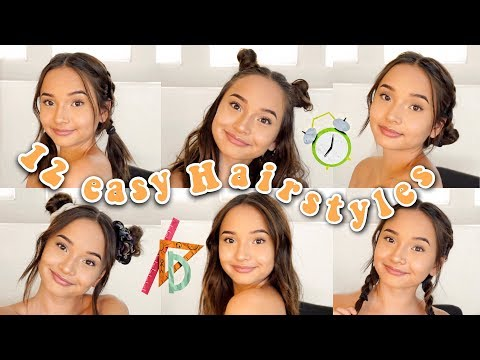 12 EASY HAIRSTYLES FOR BACK TO SCHOOL 2018 | Short And Long Hair Hairstyles