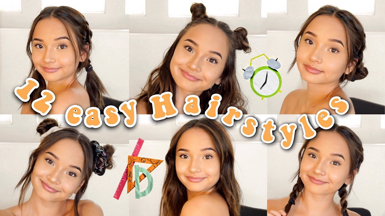 12 Easy Hairstyles For Back To School