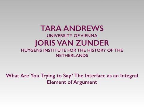 Andrews,  van Zundert: The Interface as an Integral Element of Argument