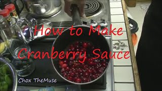 Cranberry Sauce Homemade Easy