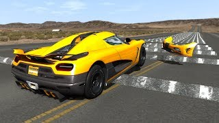 100+ Consecutive Speed Bumps High Speed Testing #10 - BeamNG DRIVE