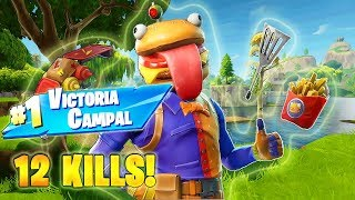 12 KILLS WITH THE CARNOSE BOSS! MASTERFUL VICTORY WITH THE NEW SKIN! FORTNITE BURGER