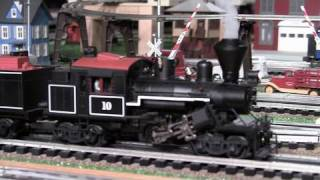 mth premier hillcrest lumber climax o gauge geared steam locomotive in true hd 1080p