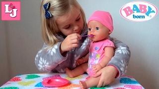Нова лялька Валерії Бебі Бон(Baby Born) Розпакування,поїмо,годуємо,садимо на горщик,одягаємо підгузник