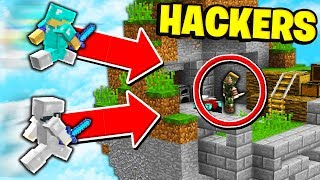 WHEN HACKERS DECIDE TO TEAM... (Minecraft Skywars)