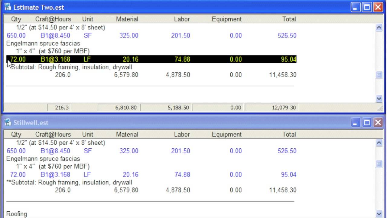 National construction estimator show me video full length for Craftsman estimator