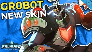 UNSTOPPABLE GROVER! NEW Gr0b0t Grover Gameplay and Build! Rampant Blooming!? (Paladins 1.5 Update)