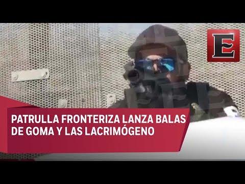 ÚLTIMA HORA: Patrulla fronteriza dispara balas de goma contra migrantes