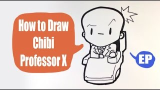 How to Draw a Cute Professor X - Chibi - Easy Pictures to Draw