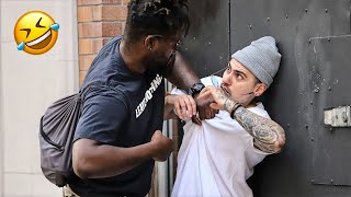 YOU WANT THESE NUTS!? IN THE HOOD PRANK! (SUPER FUNNY)