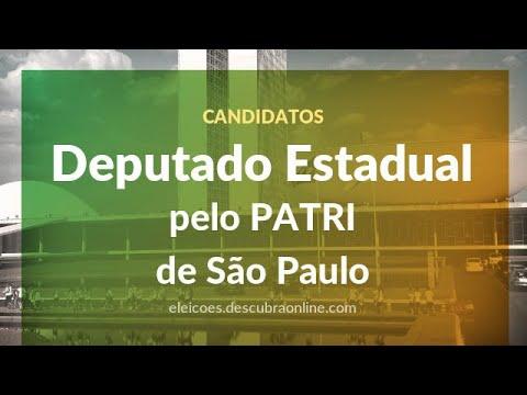 Candidatos a Deputado Estadual pelo PATRI em São Paulo nas Eleições 2018